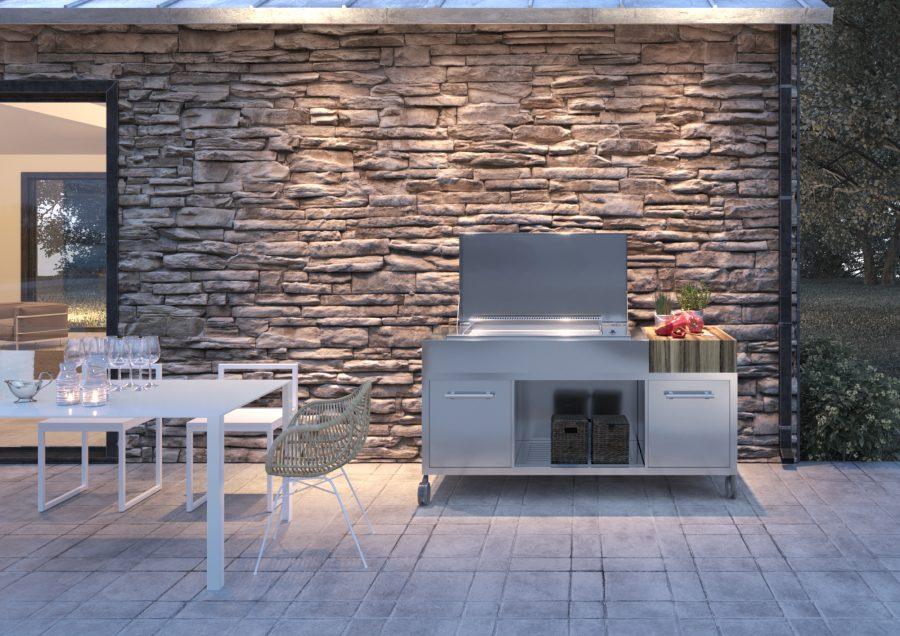 Außenküche Mit Smoker : Messeneuheit für grillsaison 2018: outdoor kitchen grillen und chillen